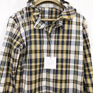 JW Anderson Uniqlo Ruffle Neckline Bell Sleeve Top